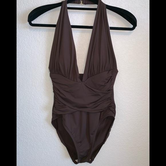 a07cdc82172 La Blanca Other - LA BLANCA ROD BEATTIE brown halter onepiece suit 8